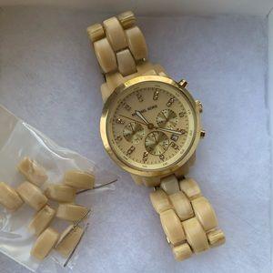 Michael Kors Light Blonde Tortoise Watch
